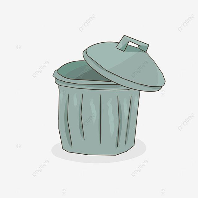 green trash bin clipart