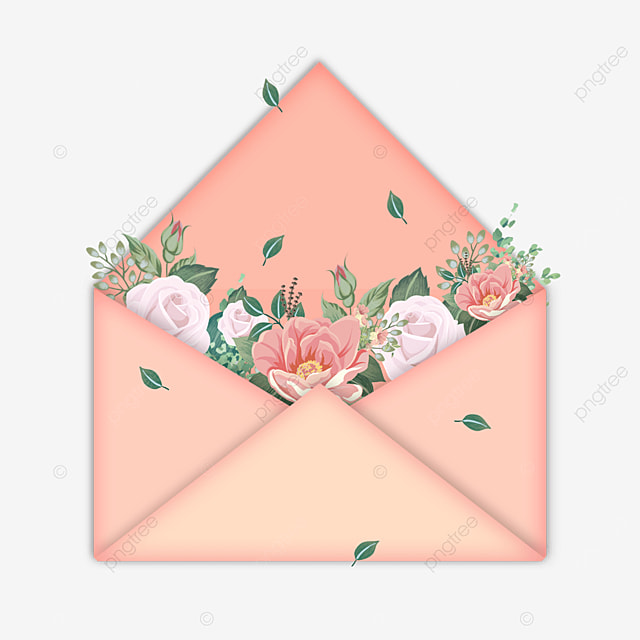 happy mothers day holiday decoration envelope flowers