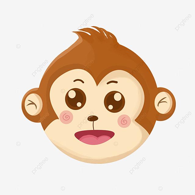 little eared monkey face clip art