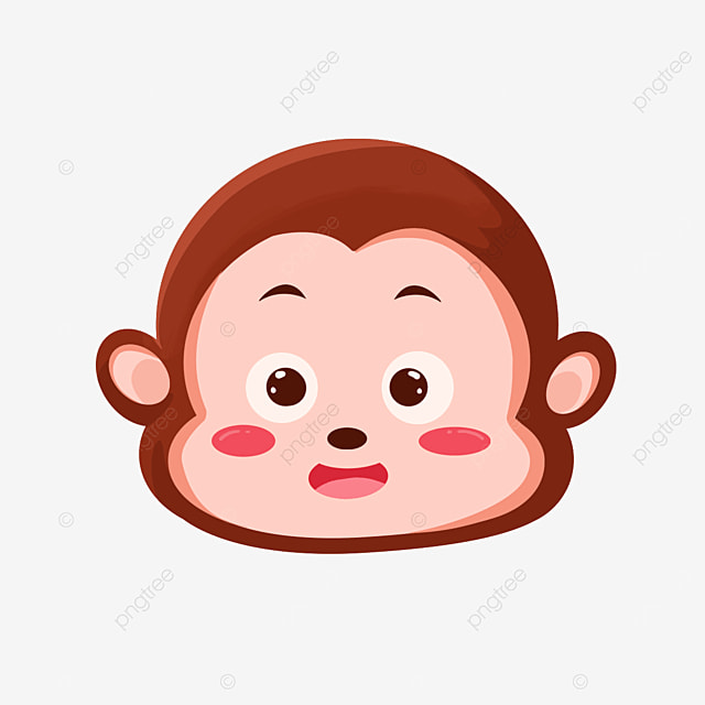 monkey face with small eyes clip art