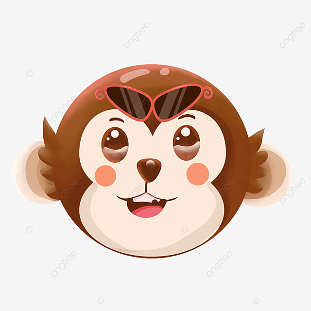 monkey face with sunglasses clipart