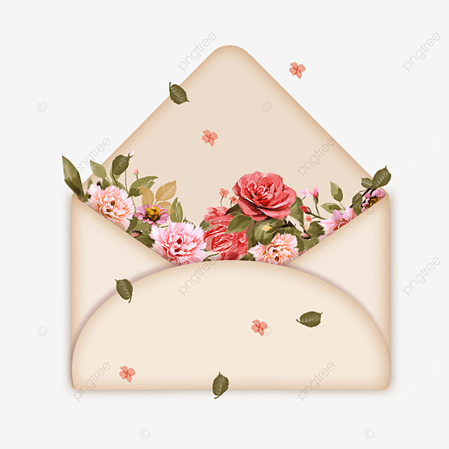 mothers day bright floral envelope petals