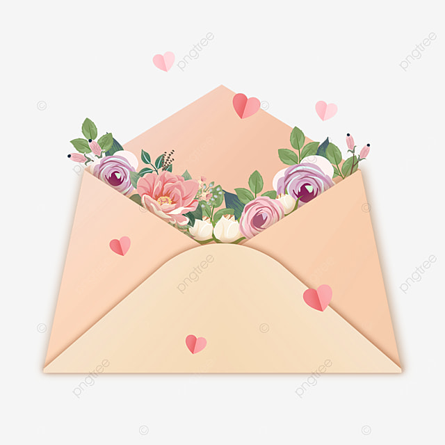 mothers day heart shaped envelope flower gift