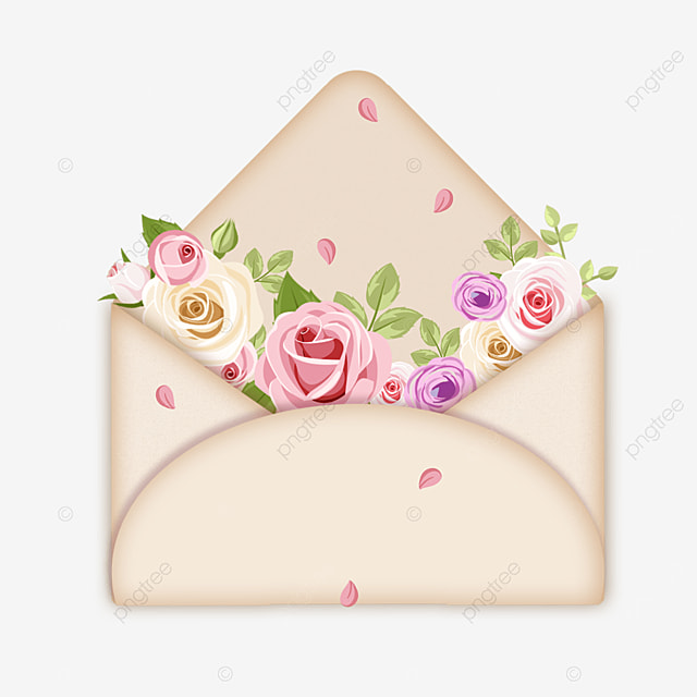 mothers day simple and elegant floral envelope wishes