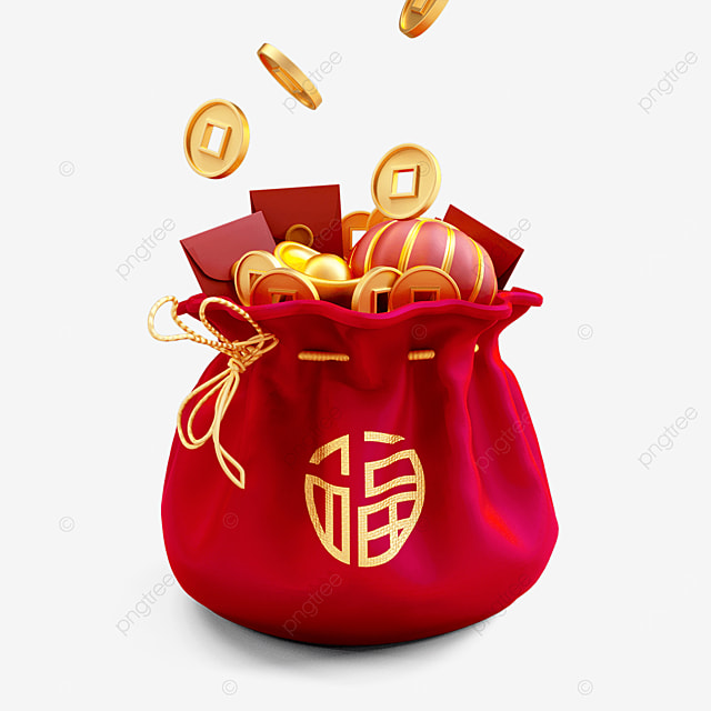 new years lucky bag full of wealth