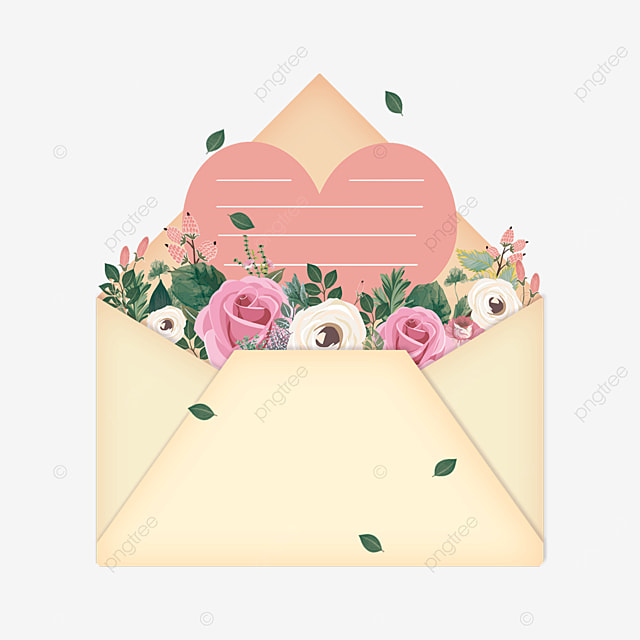 pink greeting card mothers day flowers envelope