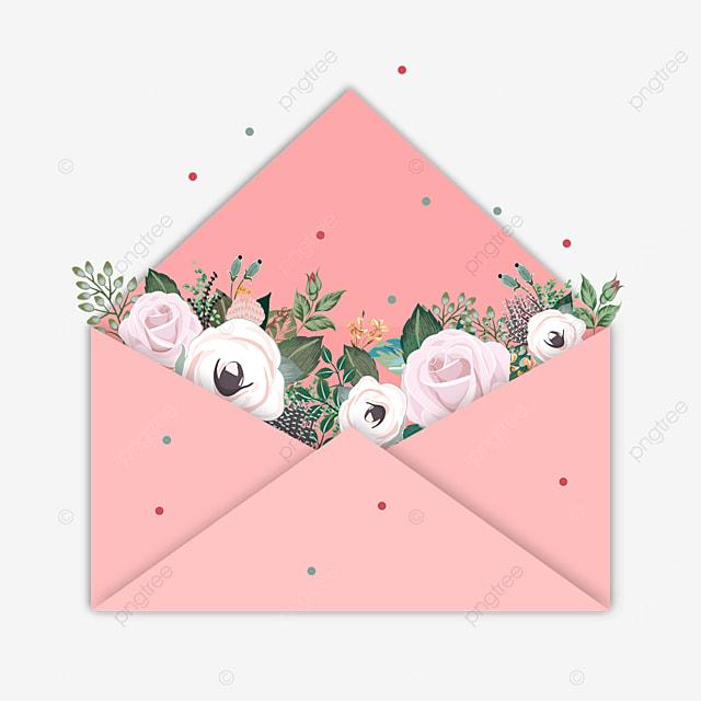 pink mothers day envelope flowers bloom