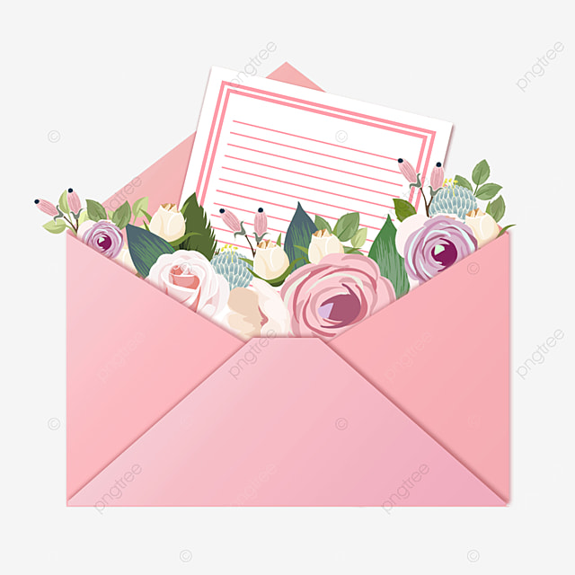 pink mothers day envelope letter letter flowers