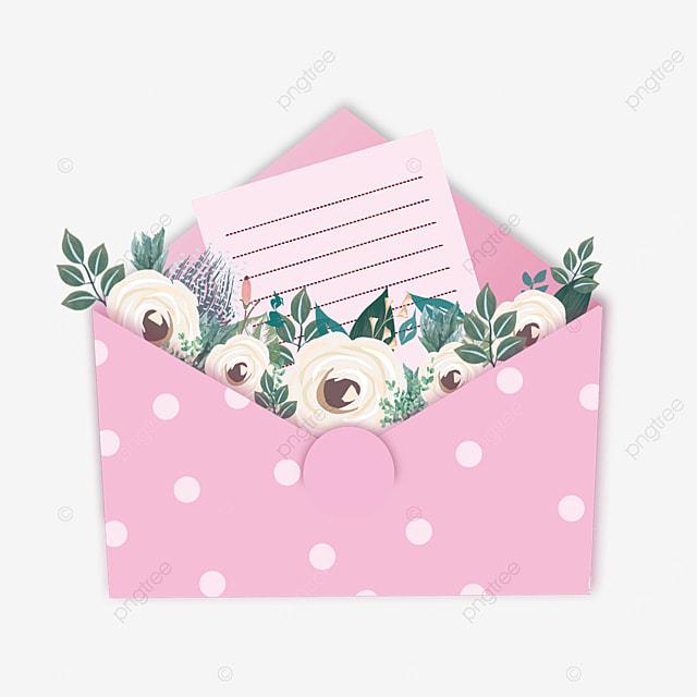 pink mothers day envelope polka dot flowers