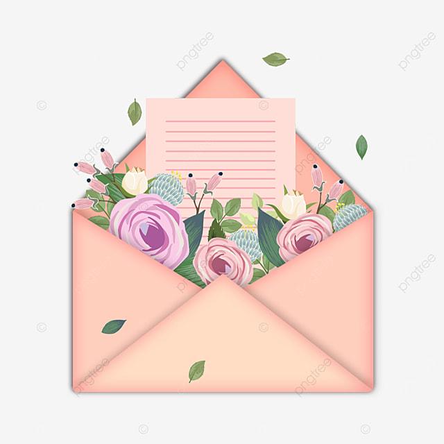 pink mothers day floral envelope stationery