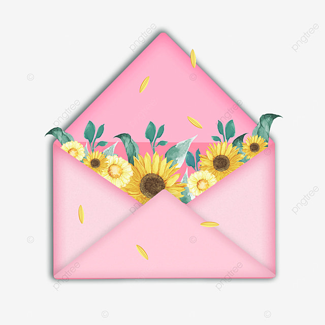 pink mothers day sunflower envelope