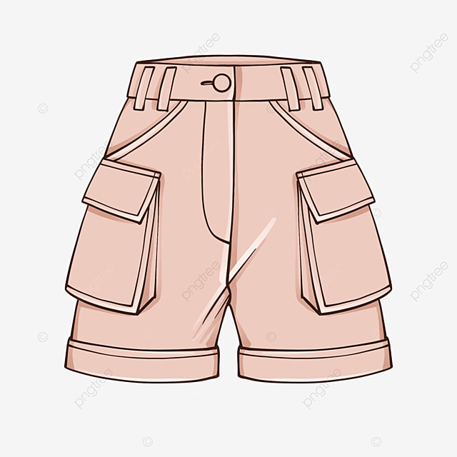 pink shorts clip art