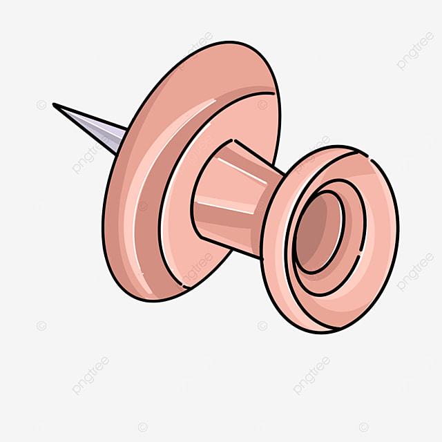 pink tack pin clip art
