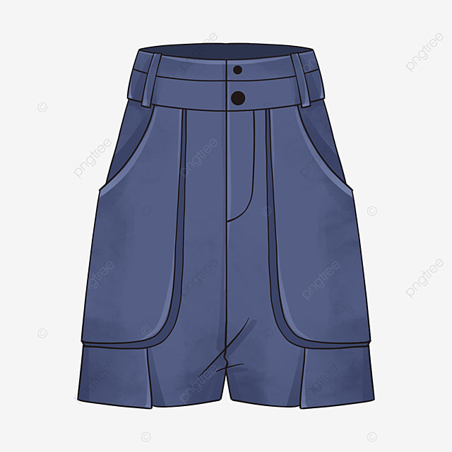 plain blue shorts clip art