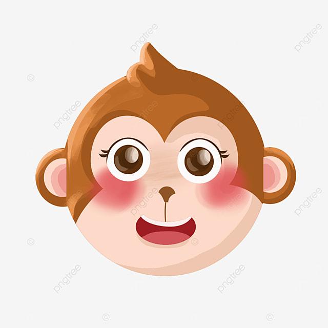 pretty monkey face clipart