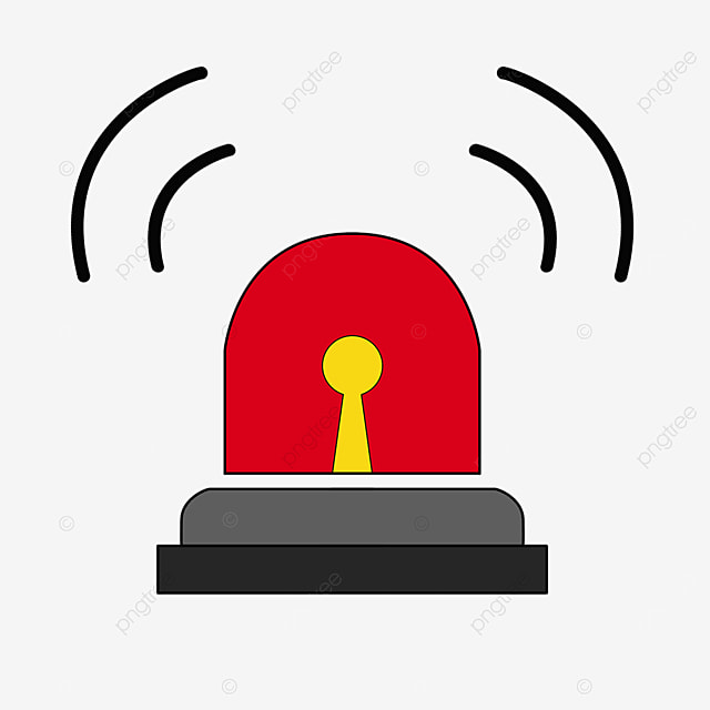 red alarm bell siren clipart