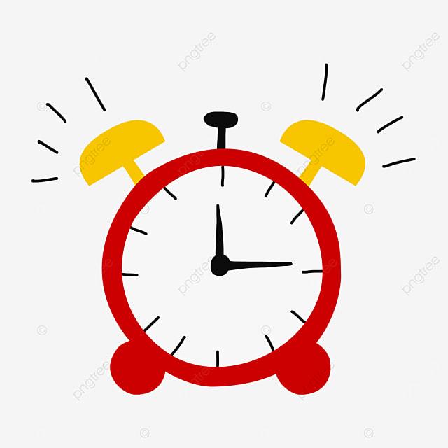 red alarm clock siren clipart