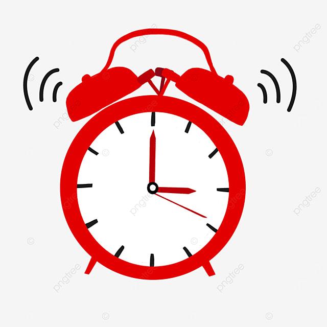 red black pointer alarm clock siren clipart