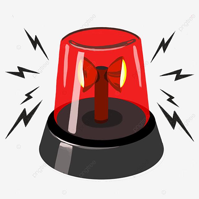 red yellow light bell alarm clip art