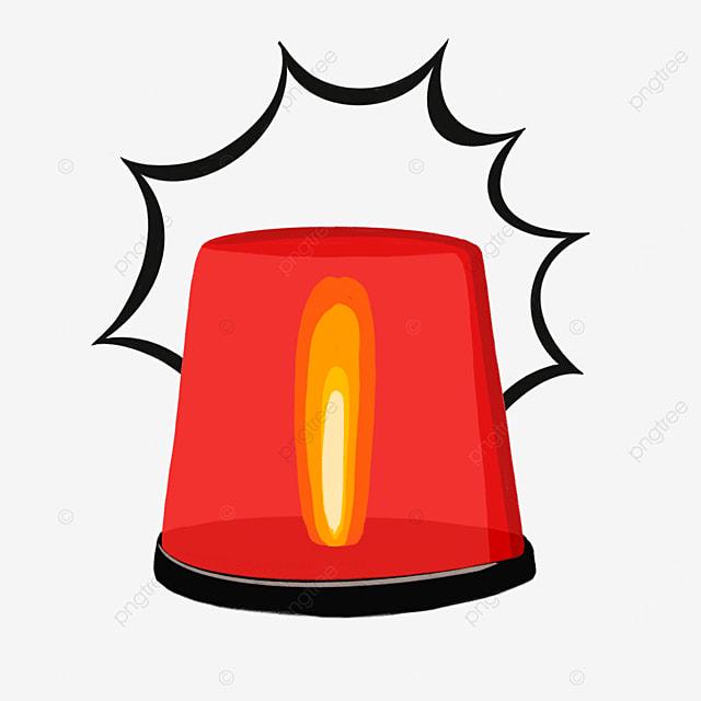 red yellow siren siren clipart
