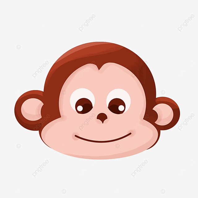 smiling monkey face clipart
