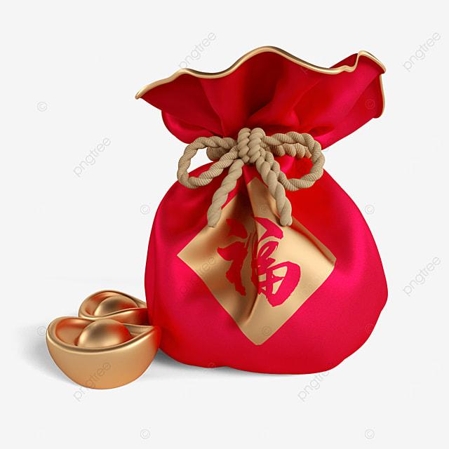 three dimensional lucky bag ingot