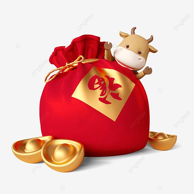 year of the ox lucky bag ingot