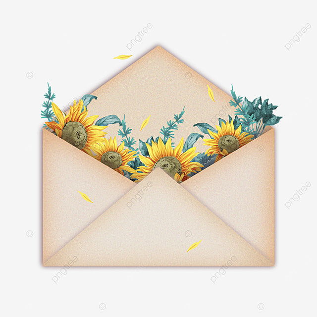yellow mothers day sunflower envelope gift