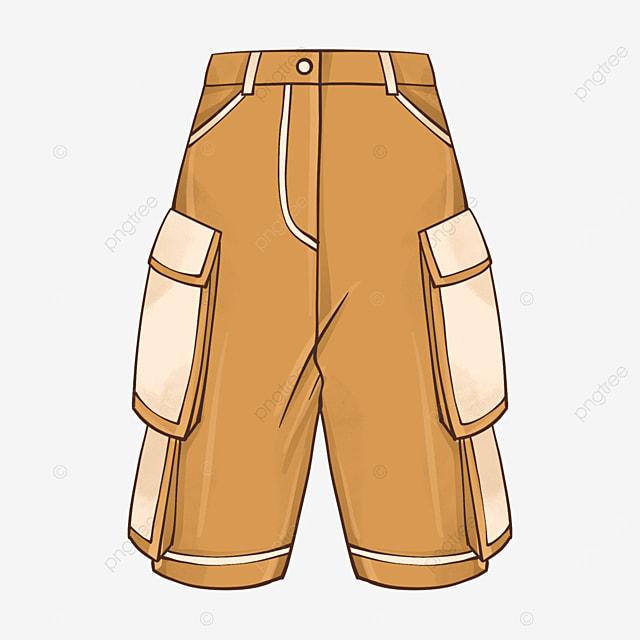 yellow shorts clipart
