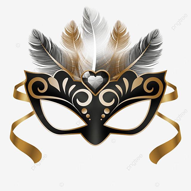 black textured carnival mask