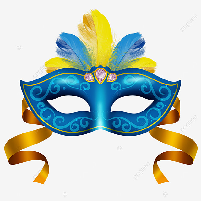 blue textured carnival mask
