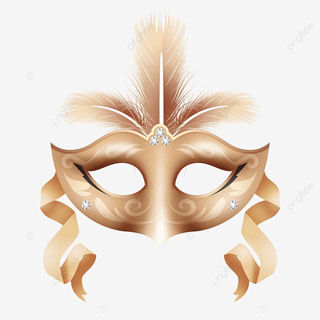 golden texture carnival mask