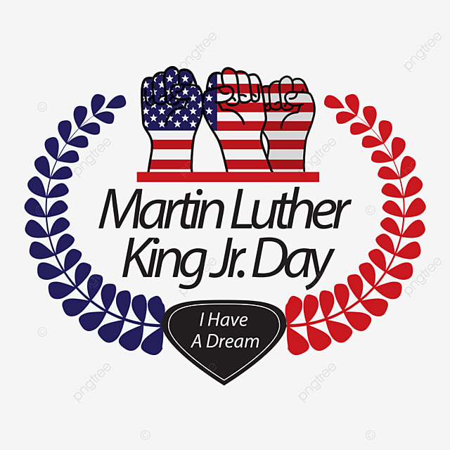 hand clenched fist red and blue human rights ding luther king day