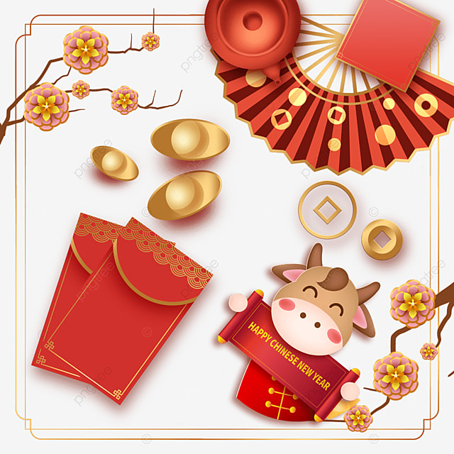 happy chinese new year fan border