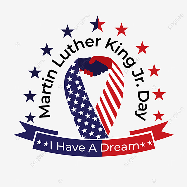 red american blue race martin luther king day