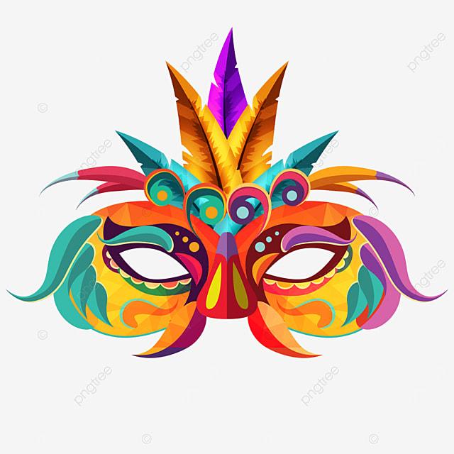 textured carnival mask creative