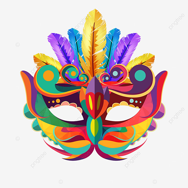 textured carnival mask