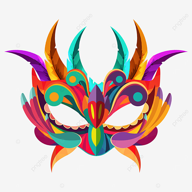 textured colorful carnival mask