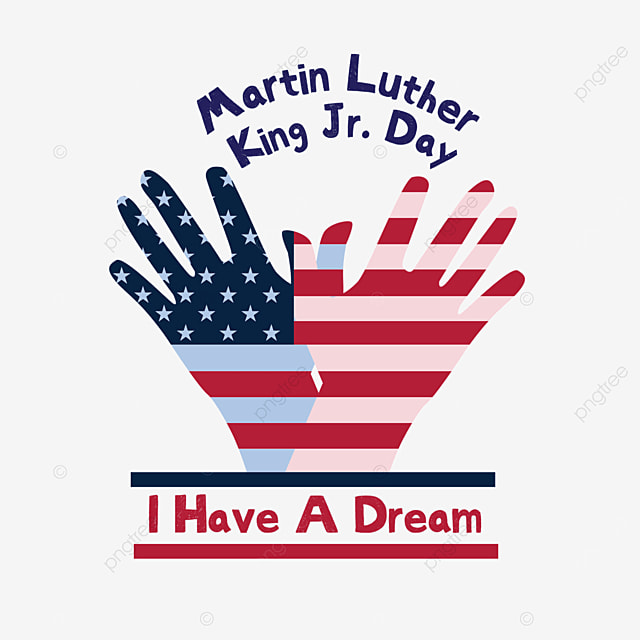 two hands palm flag american stripes martin luther king day