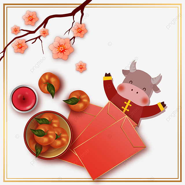 year of the ox spring festival tomato plum border