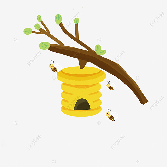 beehive clipart bees going out to play