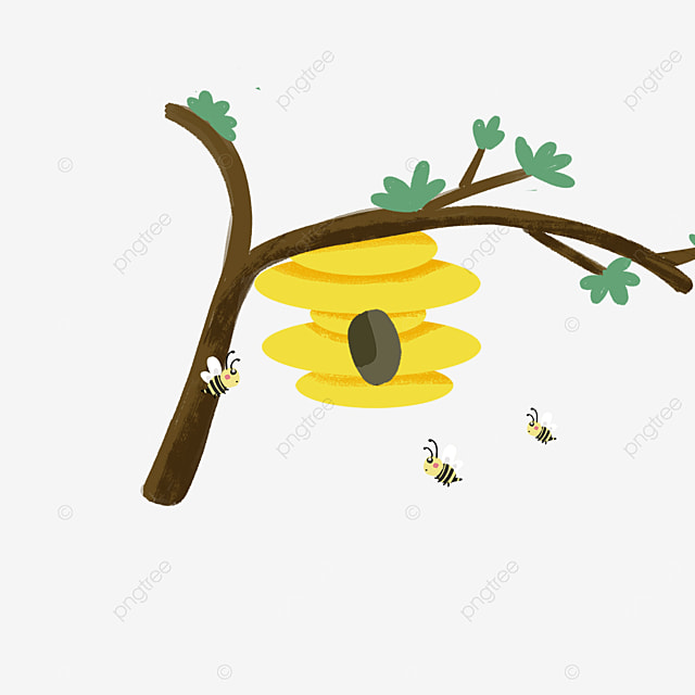 beehive clipart cute little bees