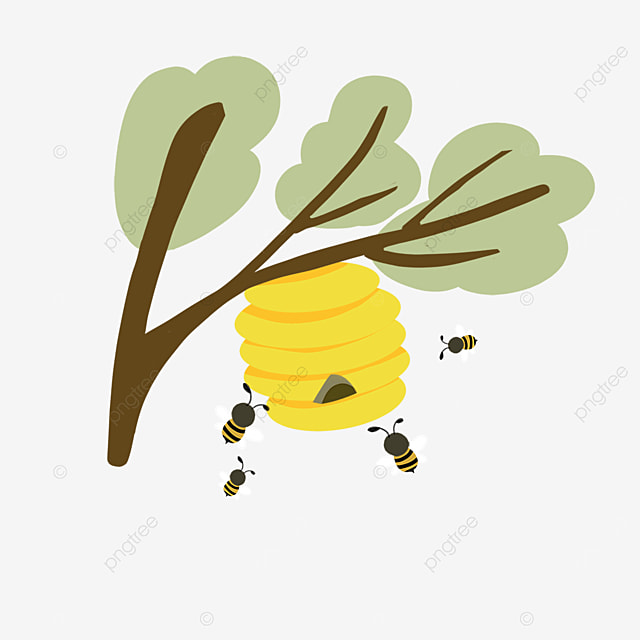 beehive clipart home bees