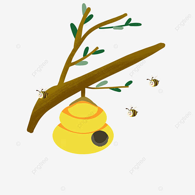 beehive clipart playful bees