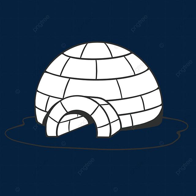 black and white igloo clip art