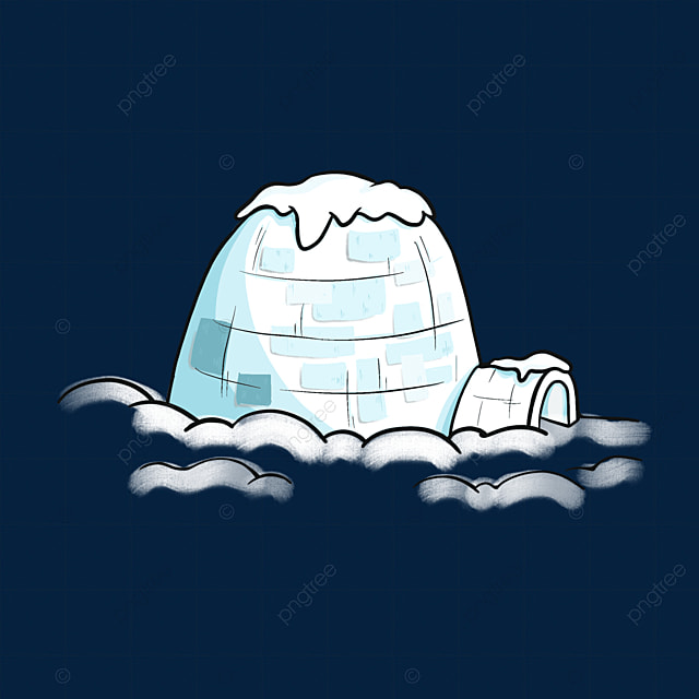 blue ice brick igloo clip art