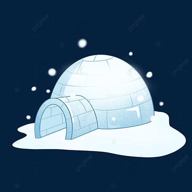 blue igloo clip art