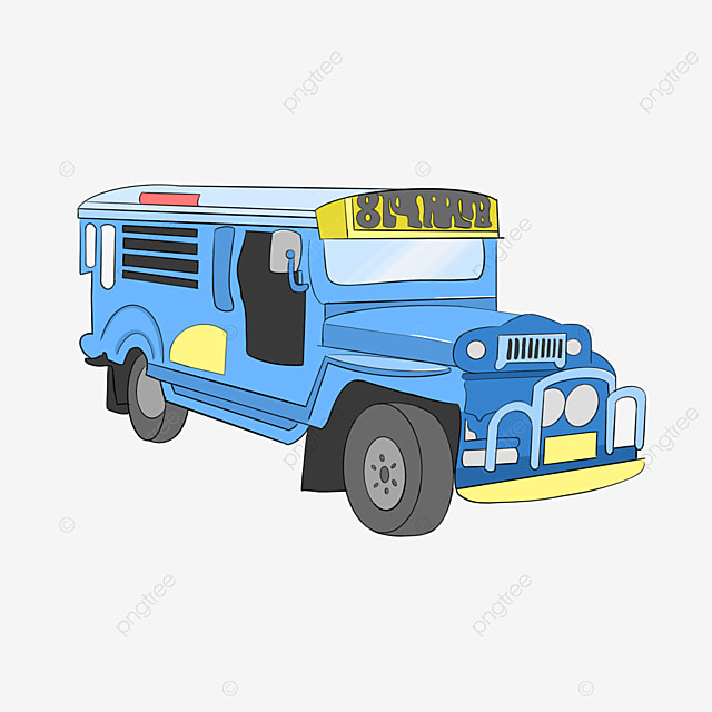 blue jeepney clip art