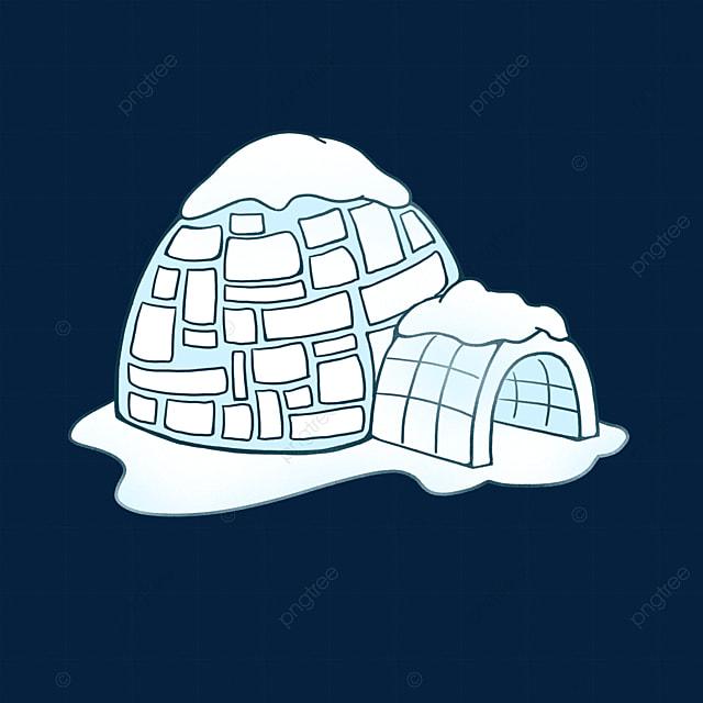 blue sumi igloo clip art