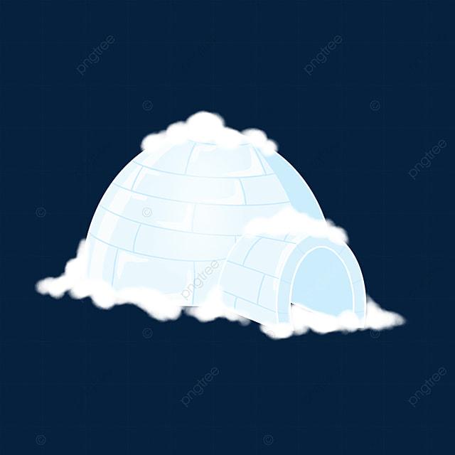 blue white igloo clip art